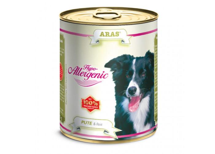 ARAS HYPO-ALLERGENIC консервы для собак «Индейка с рисом» 820 г